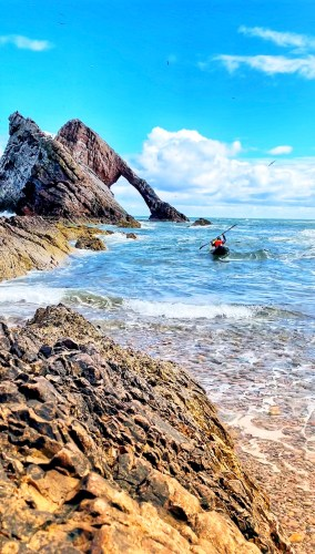 kayaking at bow fiddle rock