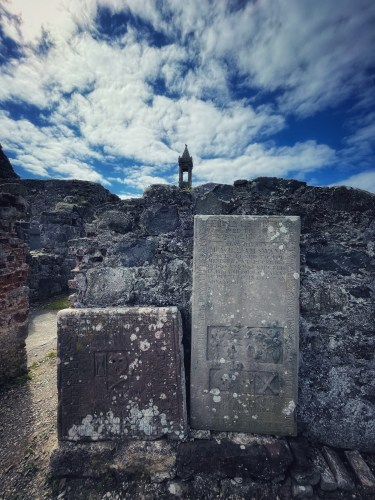 grave slabs at old pitsligo churchyard