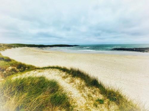 A beach on north uist