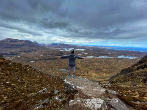 View from ridge on Suilven