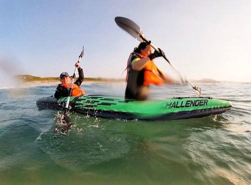 Kayaking at Balephetrish Bay