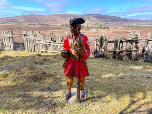 Red coat on the Dava way