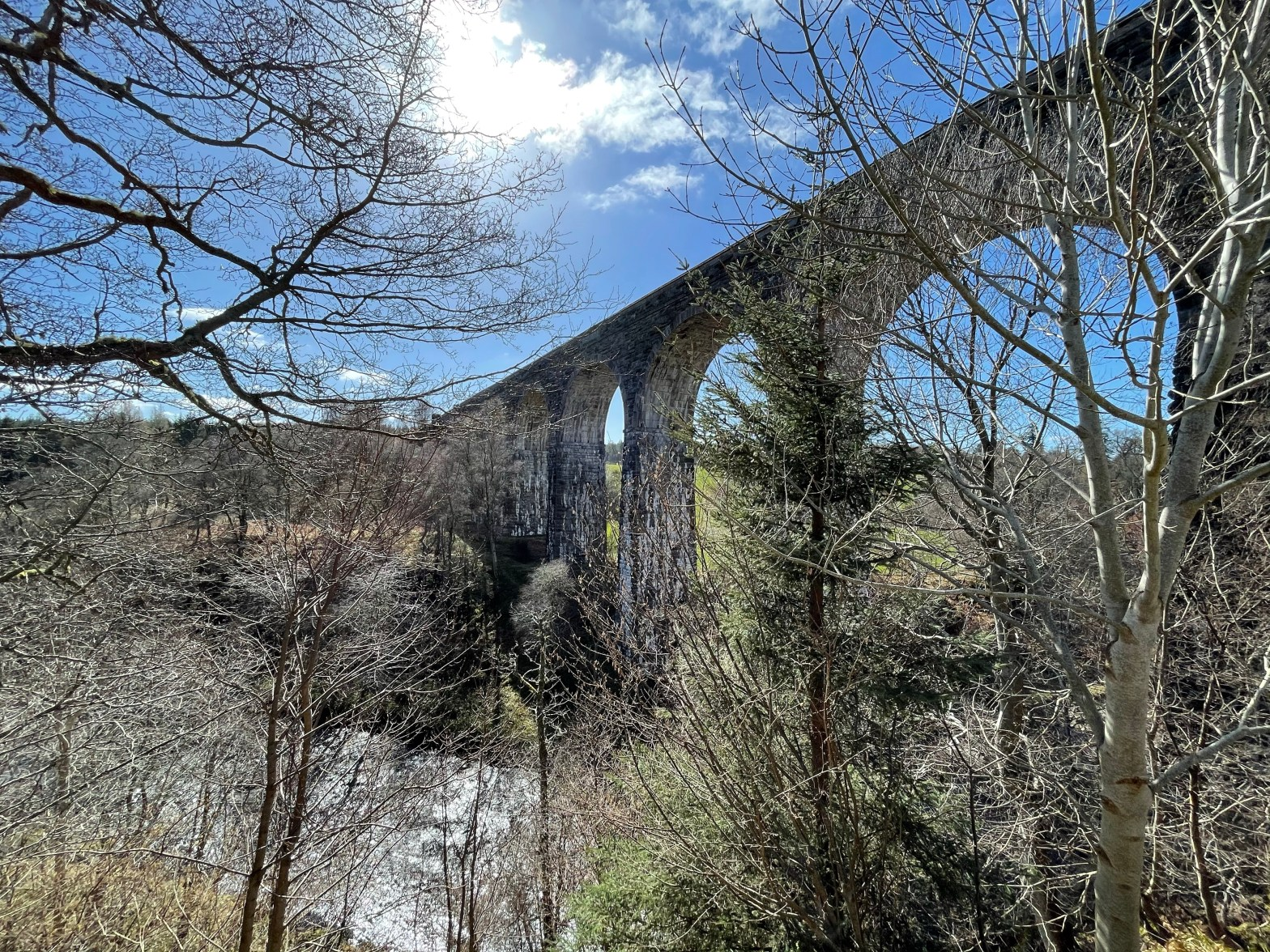 Divie viaduct from the side