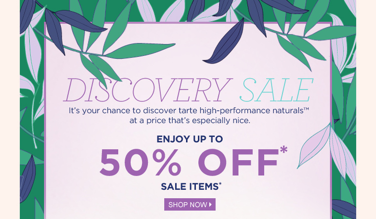 discovery sale up to 50% off