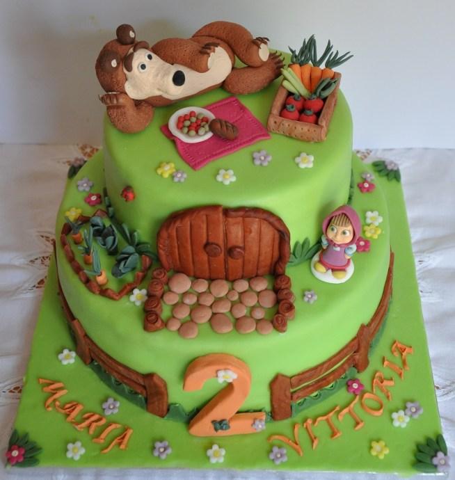 Torte speciali:Torta di compleannno 'Masha e Orso'