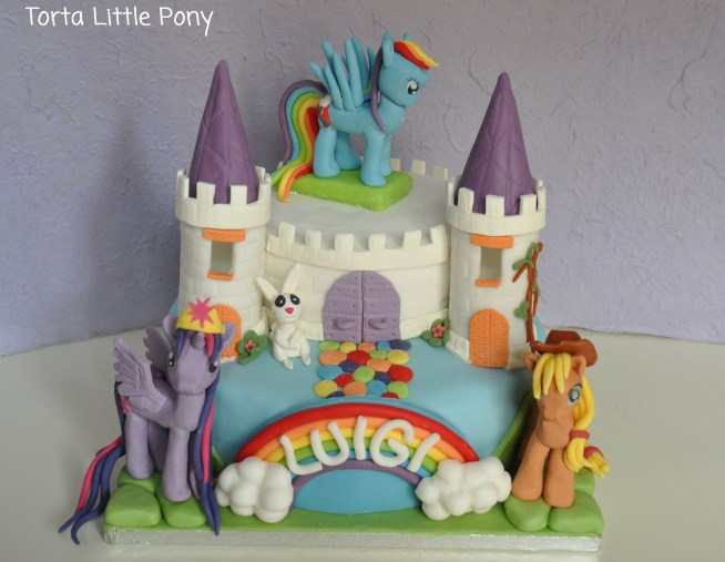 Torta My Little Pony con castello