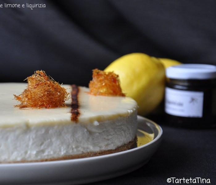 Cheesecake al limone e liquirizia