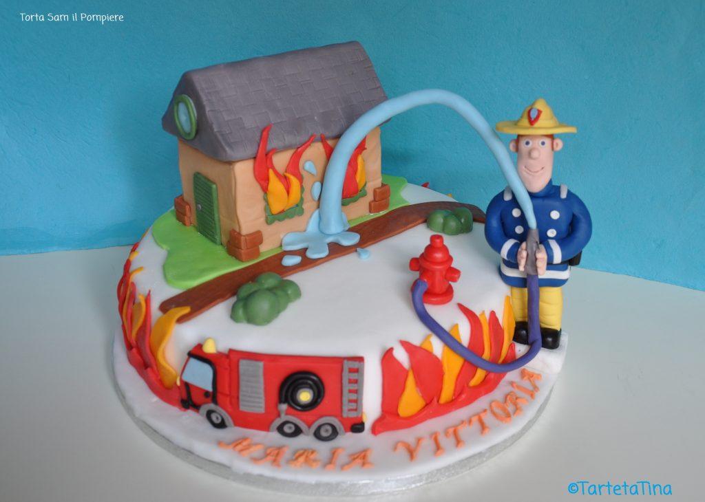 Torta Sam il pompiere  TartetaTinA