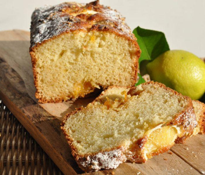 Plumcake al limone con marmellata di limoni