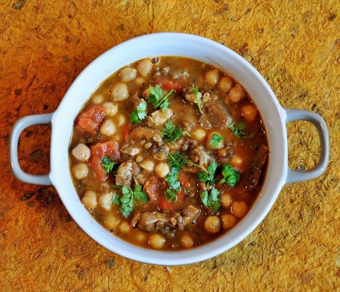 Zuppa di agnello e lenticchie alla marocchina per  il Club del 27