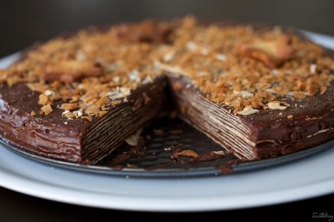 Tarta de obleas y chocolate