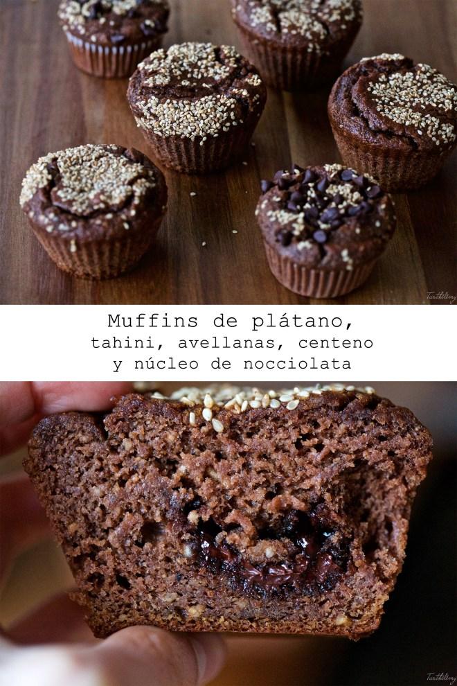 muffins de plátano y tahini