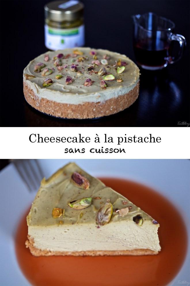 Cheesecake sans cuisson à la pistache