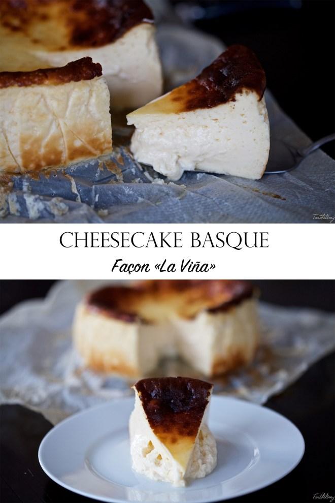 Cheesecake basque façon La Viña