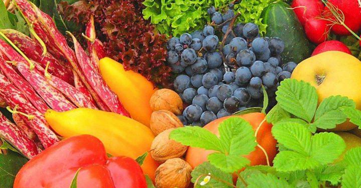 الحصة الغذائية من الفواكه والخضار