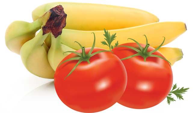 بالطماطم والموز تخلصى من دهون الخصر