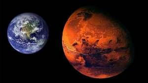 الأرض والمريخ