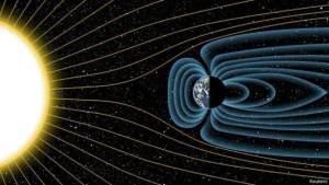 يشتت المجال المغناطيسي للأرض بروتونات الطاقة عالية الطاقة من الشمس