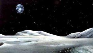 جاذبية الأرض تؤثر على تشكل تضاريس القمر