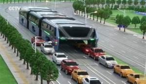"""الصين..""""حافلة طائرة"""" للقضاء على الازدحام"""