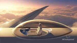 قبة زجاجية على سطح الطائرات للتمتع بمشاهد فريدة