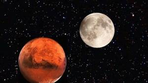 في ظاهرة نادرة القمر يلتقي المريخ اليوم