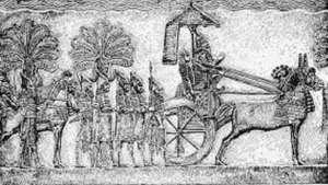 سنحاريبK ملك الإمبراطورية الآشورية الحديثة في الفترة (705 - 681 ق.م.)