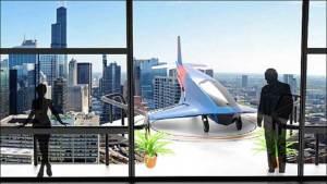 منازل المستقبل بشرفات لهبوط طائرات بدون طيار