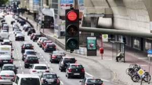 ازدحام حركة المرور في شوارع كاليفورنيا