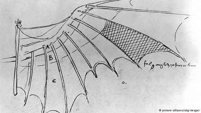 أشهر اختراعات وأحلام دافنشي