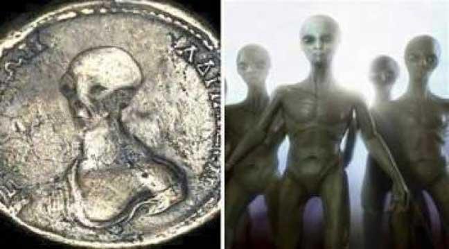 العثور على قطع نقدية تحمل صور المخلوقات الفضائية في مصر