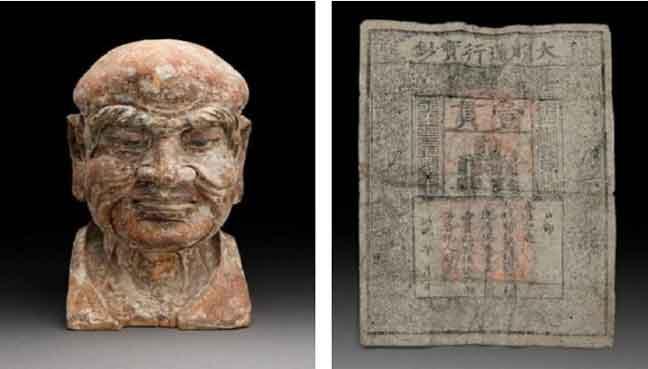 ورقة نقدية ثمينة وجدت في تمثال صيني من القرون الوسطى