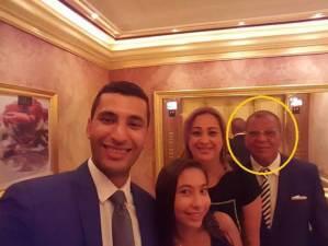 المغدور يوسف لمعي مع عائلته