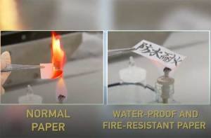 العلماء يطورون ورقا مقاوما للماء والحريق