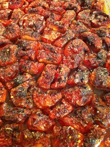 The roasted tomatoes.
