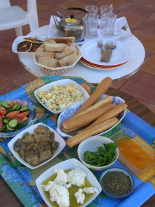 Breakfast at my aunt's home in Jordan