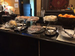 Part of the Holland Hotel breakfast buffet. Steve said the bacon scones were grreat.