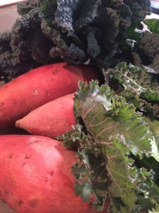 Boggy Creek haul, part one: Dine Kale, Brassica Salad, Sweet Poataoes