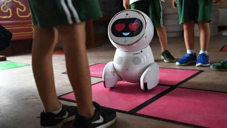 robots are working in China's 600 kindergartens