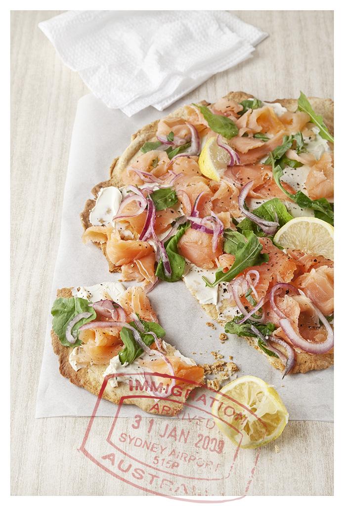 Salmon & Creme Fraiche Pizza