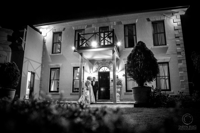 eschol park house at night