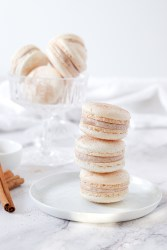 Snickerdoodle Macarons in a tower