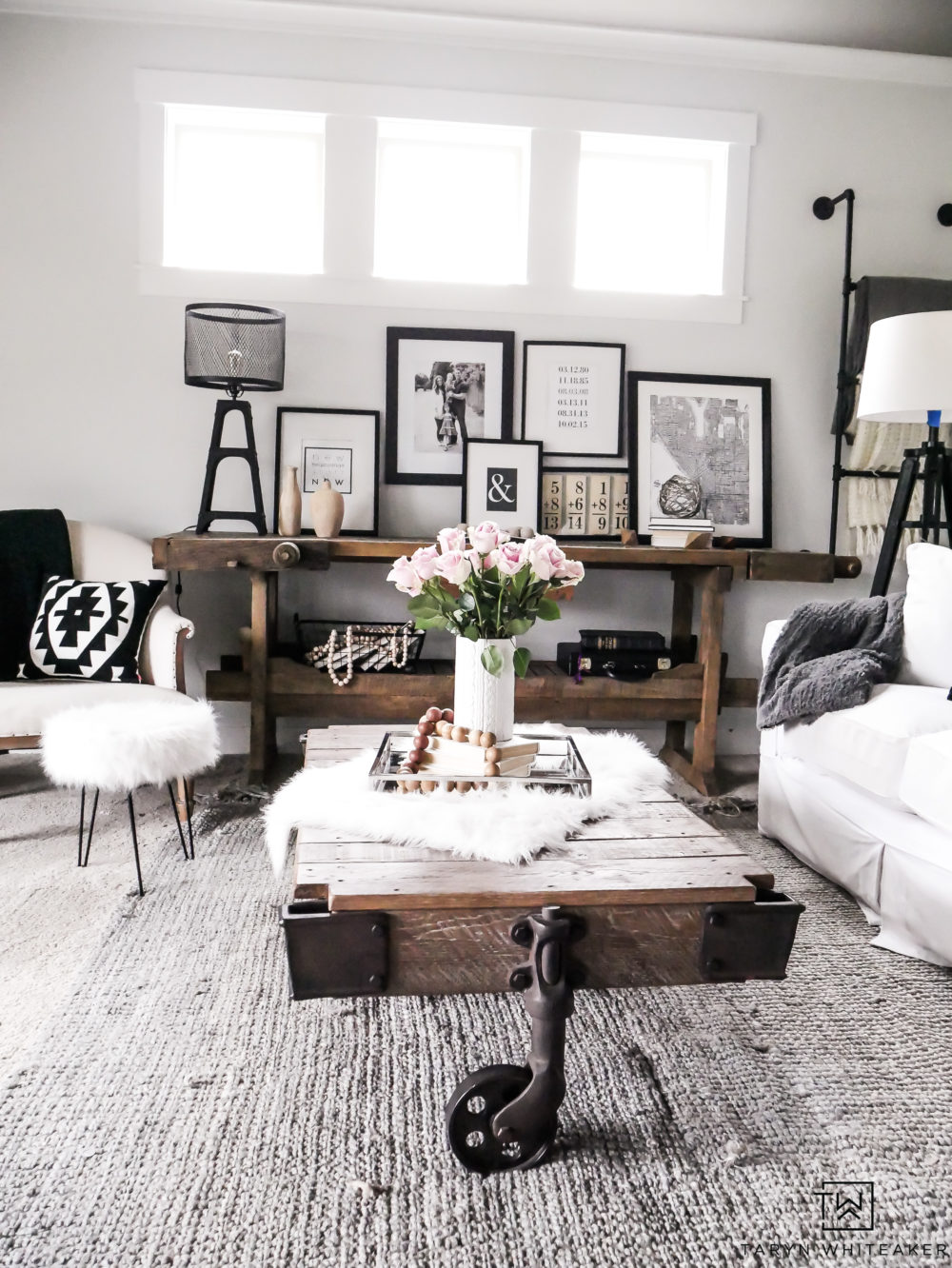 how much to paint living room wooden center tables refresh taryn whiteaker using sherwin williams reserved white