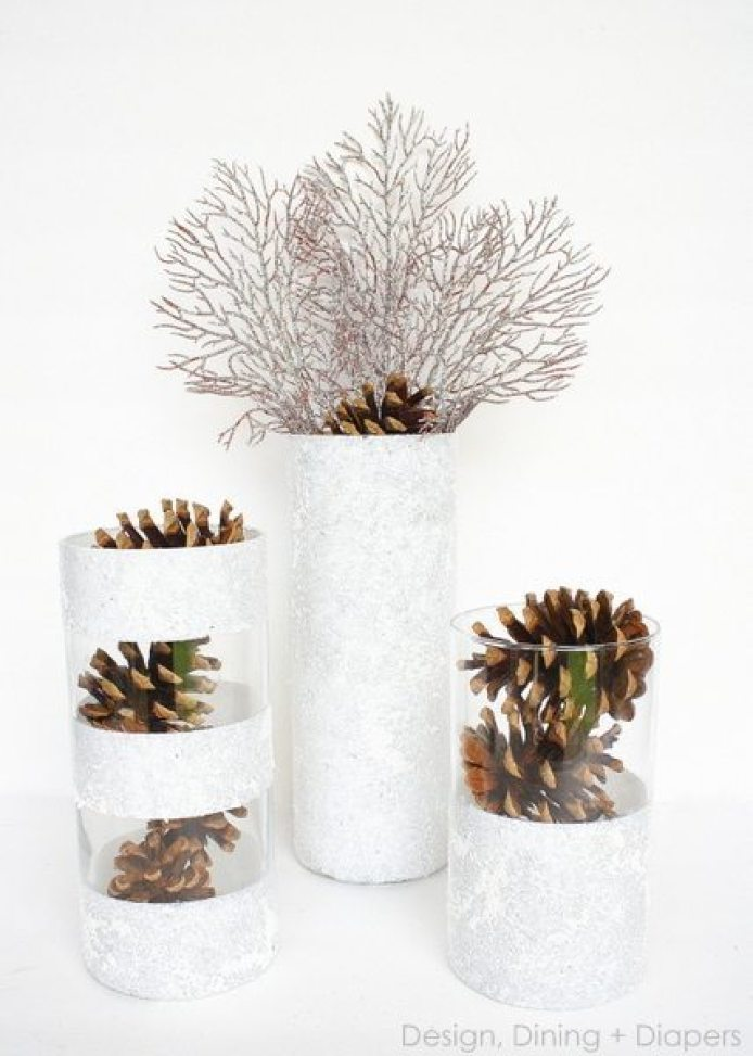 DIY Winter Vases