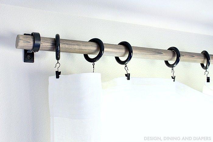 DIY Rustic Curtain Rods  Taryn Whiteaker