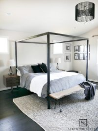 Master Bedroom Update - Steel Canopy Bed and Bedding ...