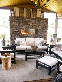 Black And White Outdoor Patio Furniture With Stone