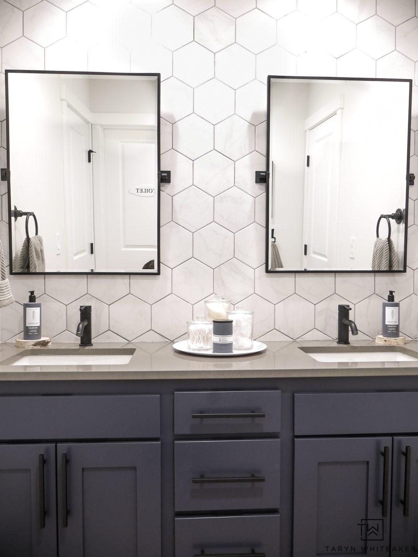 Double Sink Bathroom Vanity Makeover Taryn Whiteaker