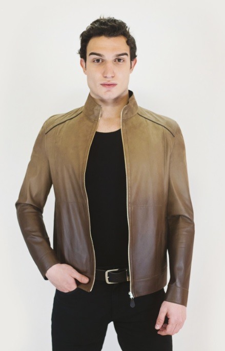 Men's Yellow Brown Leather Jacket Combinations