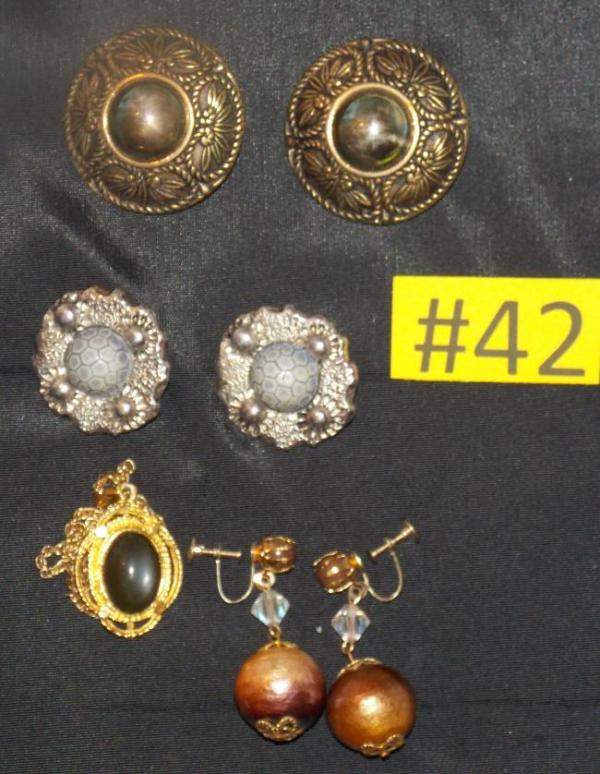 clip on earrings and mood necklace